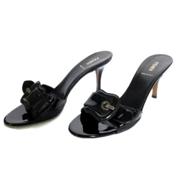 b5026407 Fendi Buckle Slides Size 38/8
